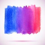 Διανυσματικό έμβλημα κλίσης watercolor ρόδινο, ιώδες και μπλε με τη σκιά Στοκ Φωτογραφία