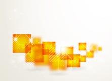Αφηρημένο πορτοκαλί έμβλημα τεχνολογίας Διανυσματική απεικόνιση
