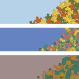 Διανυσματικό έμβλημα υποβάθρου φύλλων φθινοπώρου Στοκ Εικόνες