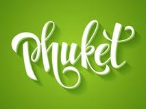 Διανυσματικό έμβλημα Phuket Στοκ Εικόνες
