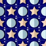 Διανυσματικό έναστρο άνευ ραφής σχέδιο νύχτας Στοκ Φωτογραφία