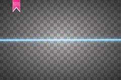 Διανυσματικό έναστρο ελαφρύ υπόβαθρο Μπλε καμμένος γραμμές Επίδραση κινήσεων ταχύτητας Το σπινθήρισμα ακτινοβολεί ίχνος Στοκ Εικόνες
