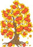 Διανυσματικό δέντρο της Apple Συλλογή δέντρων Εποχή δέντρων Στοκ φωτογραφία με δικαίωμα ελεύθερης χρήσης