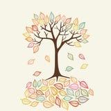 Διανυσματικό δέντρο φθινοπώρου Στοκ Εικόνα