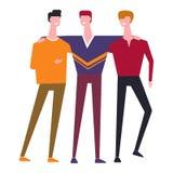 Διανυσματικό αγκάλιασμα αδελφών ή φίλων οικογενειακών ανθρώπων διανυσματική απεικόνιση