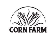 Διανυσματικό αγρόκτημα καλαμποκιού για το λογότυπο επιχείρησης απεικόνιση αποθεμάτων