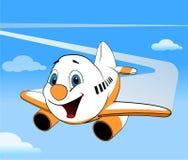 Διανυσματικό αεροπλάνο κινούμενων σχεδίων Στοκ εικόνα με δικαίωμα ελεύθερης χρήσης