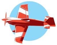 Διανυσματικό αθλητικό αεροπλάνο Στοκ εικόνα με δικαίωμα ελεύθερης χρήσης