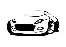 Διανυσματικό αθλητικό αυτοκίνητο σκιαγραφιών Στοκ Φωτογραφίες