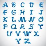 Διανυσματικό αλφάβητο Α κορδελλών στο Ζ Στοκ φωτογραφίες με δικαίωμα ελεύθερης χρήσης