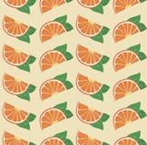 Διανυσματικό αναδρομικό άνευ ραφής σχέδιο πορτοκαλιών Στοκ Εικόνες
