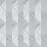 Διανυσματικό αναδρομικό γεωμετρικό γκρίζο άνευ ραφής σχέδιο Στοκ φωτογραφία με δικαίωμα ελεύθερης χρήσης