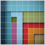 Διανυσματικό αναδρομικό τετραγωνικό υπόβαθρο Διανυσματική απεικόνιση