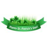 Πράσινο έμβλημα τριφυλλιού ημέρας του ST Patricks Ελεύθερη απεικόνιση δικαιώματος
