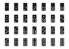 Διανυσματικό απομονωμένο μαύρο σύνολο ντόμινο Στοκ φωτογραφίες με δικαίωμα ελεύθερης χρήσης