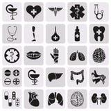Διανυσματικό απλό μαύρο ιατρικό σύνολο εικονιδίων Στοκ φωτογραφία με δικαίωμα ελεύθερης χρήσης