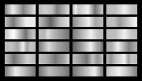 Διανυσματικό ασημένιο σύνολο κλίσεων διανυσματική απεικόνιση