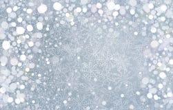 Διανυσματικό ασημένιο υπόβαθρο για το σχέδιο Χριστουγέννων. Στοκ φωτογραφία με δικαίωμα ελεύθερης χρήσης