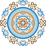 Διανυσματικό ασιατικό κινεζικό ασιατικό παραδοσιακό σχέδιο διακοσμήσεων Στοκ Εικόνες