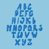 Διανυσματικό λατινικό αλφάβητο φιαγμένο από καραμέλα, υγρό Ύφος πηγών απεικόνιση αποθεμάτων