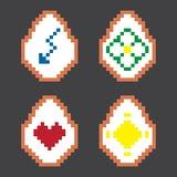 Διανυσματικό αυγό εικονοκυττάρου Πάσχας ζωηρόχρωμο Στοκ Εικόνα
