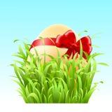 Διανυσματικό αυγό Πάσχας αποθεμάτων με ένα τόξο Στοκ φωτογραφία με δικαίωμα ελεύθερης χρήσης