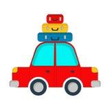 Διανυσματικό αυτοκίνητο ταξιδιού επίσης corel σύρετε το διάνυσμα απεικόνισης Στοκ φωτογραφία με δικαίωμα ελεύθερης χρήσης