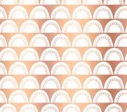Διανυσματικό αφηρημένο άνευ ραφής γεωμετρικό backg τόξων Doodle φύλλων αλουμινίου χαλκού ελεύθερη απεικόνιση δικαιώματος