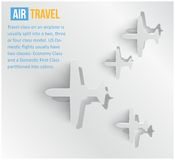 Διανυσματικό αφηρημένο αεροπορικό ταξίδι υποβάθρου. Ιστός Στοκ Εικόνες