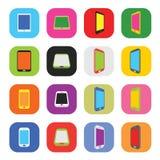 Διανυσματικό αφηρημένο ζωηρόχρωμο ελάχιστο ύφος σύγχρονο κινητό Smartphone απεικόνιση αποθεμάτων