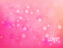 Διανυσματικό αφηρημένο κυκλικό ροζ και καρδιά στο υπόβαθρο Στοκ εικόνα με δικαίωμα ελεύθερης χρήσης