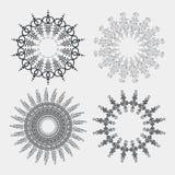 Διανυσματικό αφηρημένο κυκλικό σχέδιο αποθεμάτων τεσσάρων κύκλων Στοκ Φωτογραφίες