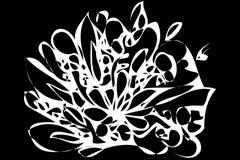 Διανυσματικό αφηρημένο λουλούδι σκίτσων Στοκ Εικόνα