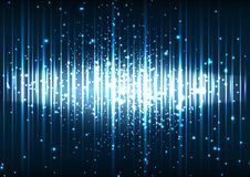 Διανυσματικό αφηρημένο μπλε διαστημικό υπόβαθρο ελαφριάς επίδρασης Στοκ φωτογραφία με δικαίωμα ελεύθερης χρήσης