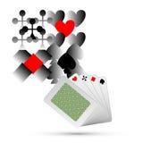 Διανυσματικό αφηρημένο παίζοντας υπόβαθρο στοιχείων καρτών Στοκ φωτογραφία με δικαίωμα ελεύθερης χρήσης
