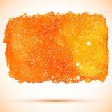 Διανυσματικό αφηρημένο πορτοκαλί κοσμικό έμβλημα watercolor Στοκ Εικόνες