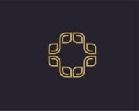 Διανυσματικό αφηρημένο πρότυπο σχεδίου λογότυπων πολυτέλειας Στοκ Εικόνες