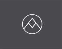 Διανυσματικό αφηρημένο πρότυπο σχεδίου λογότυπων πολυτέλειας Στοκ Εικόνα