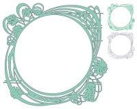 Διανυσματικό αφηρημένο πλαίσιο από τις συνδεδεμένα γραμμές και τα λουλούδια Στοκ εικόνες με δικαίωμα ελεύθερης χρήσης
