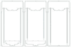 Διανυσματικό αφηρημένο πλαίσιο από τις συνδεδεμένες γραμμές για τη διακόσμηση και το σχέδιο Στοκ Φωτογραφίες