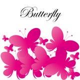 Διανυσματικό αφηρημένο ρόδινο υπόβαθρο πεταλούδων στοκ φωτογραφία με δικαίωμα ελεύθερης χρήσης