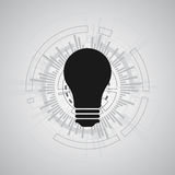 Διανυσματικό αφηρημένο σχέδιο λαμπτήρων τεχνολογίας Στοκ φωτογραφία με δικαίωμα ελεύθερης χρήσης