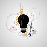 Διανυσματικό αφηρημένο σχέδιο λαμπτήρων τεχνολογίας Στοκ Εικόνες