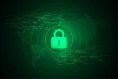 Διανυσματικό αφηρημένο σχέδιο ασφάλειας τεχνολογίας υποβάθρου Στοκ Εικόνες