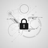 Διανυσματικό αφηρημένο σχέδιο ασφάλειας τεχνολογίας Στοκ φωτογραφία με δικαίωμα ελεύθερης χρήσης