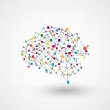 Διανυσματικό αφηρημένο σχέδιο εγκεφάλου τεχνολογίας υποβάθρου Στοκ Φωτογραφίες