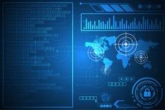 Διανυσματικό αφηρημένο σχέδιο διεπαφών τεχνολογίας υποβάθρου Στοκ εικόνα με δικαίωμα ελεύθερης χρήσης