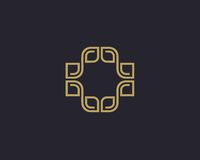 Διανυσματικό αφηρημένο σχέδιο λογότυπων Στοκ Εικόνες