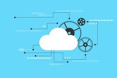 Διανυσματικό αφηρημένο σχέδιο σύννεφων τεχνολογίας Στοκ εικόνα με δικαίωμα ελεύθερης χρήσης