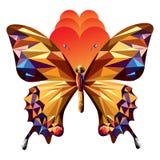 Διανυσματικό αφηρημένο σύγχρονο καθιερώνον τη μόδα σχέδιο συμβόλων πεταλούδων - απεικόνιση στοκ εικόνες